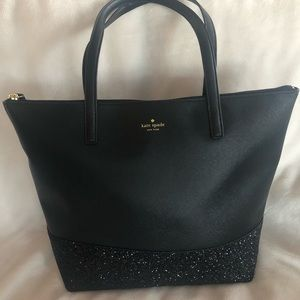 Kate Spade - Black Tote with Sparkle Detail